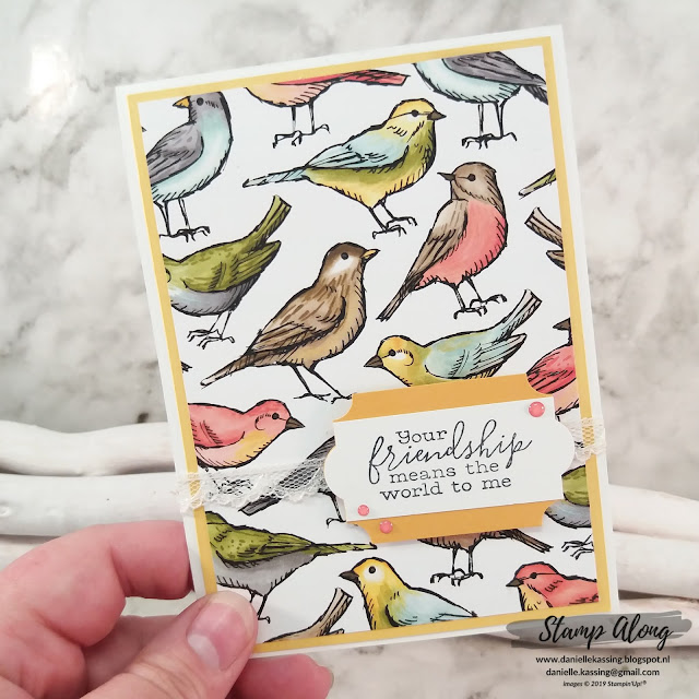 Stampin' Up! Bird Ballad DSP