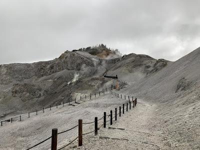 川原毛地獄の遊歩道