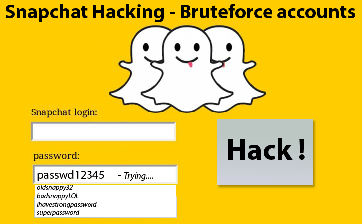 Snapchat user accounts vulnerable to Brute-Force Attack