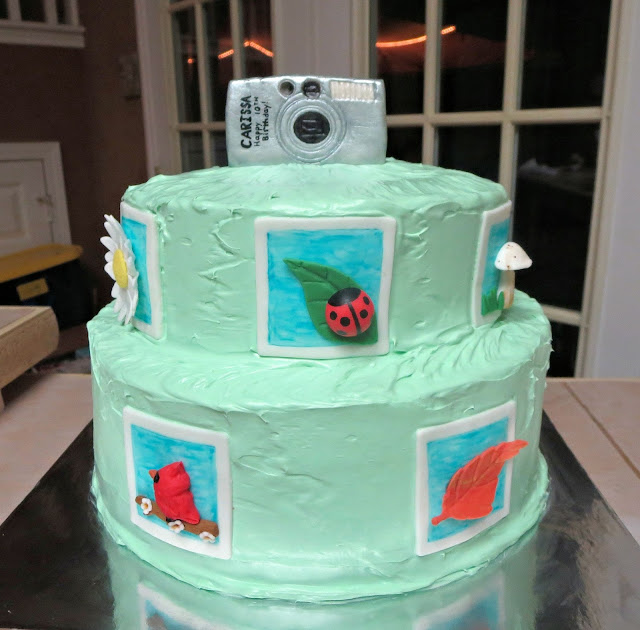 Camera Photography Themed Cake - Front View