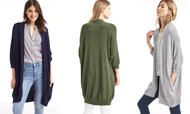 Gap Three-Quarter Sleeve Cocoon Cardigan $27 (reg $60)