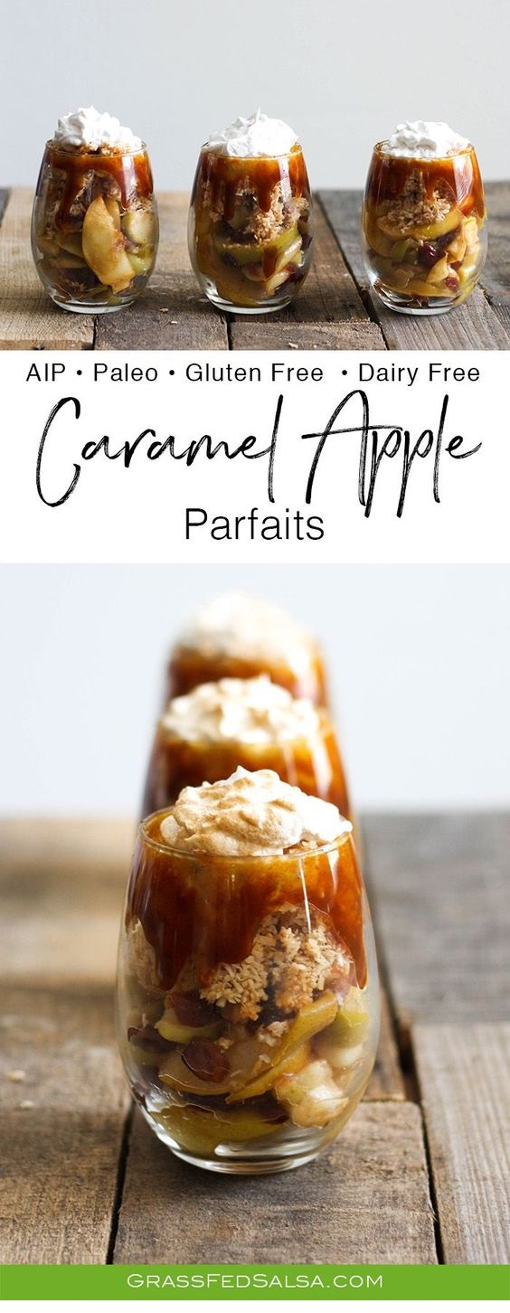 Salted Caramel Apple Parfaits