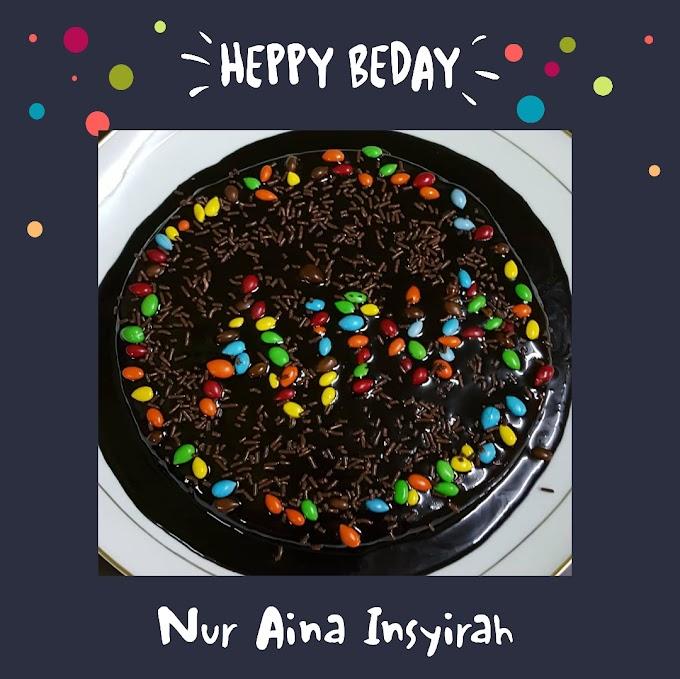 Kek Coklat Untuk Birthday Insyirah