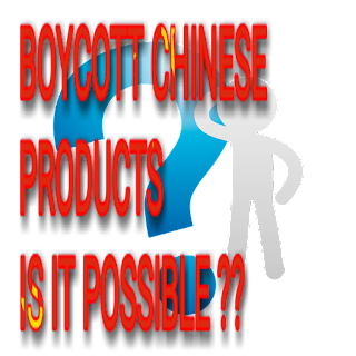 Is this possible to boycott Chinese products?