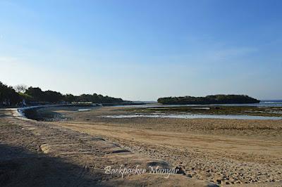 Pantai sisi Utara dari Water Blow Nusa Dua - Backpacker Manyar