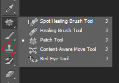 Photoshop spot removal tools