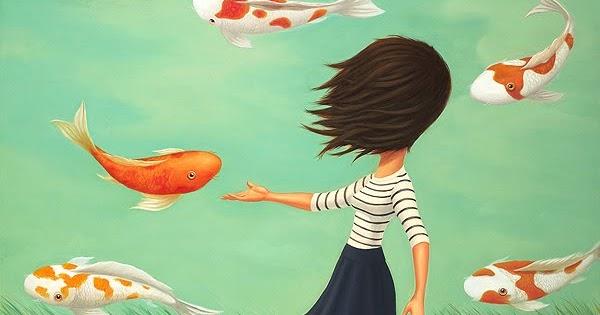 La bambina col cappotto azzurro cielo come un pesce rosso for Quanto vive un pesce rosso