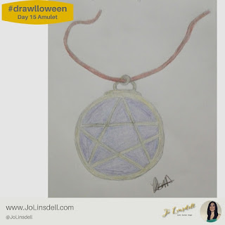 #Drawlloween Day 15 Amulet #Drawing #challenge