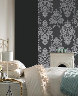 wallpaper design damask wallpaper designs interior bedroom decorating with damask wallpaper designs ideas - Damask Bedroom Ideas