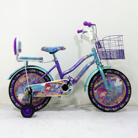Sepeda Mini Anak Michel XC265 Princess 16 Inci x 2.125 CTB Steel Ban Motif 4-7 Tahun Kids City Bike