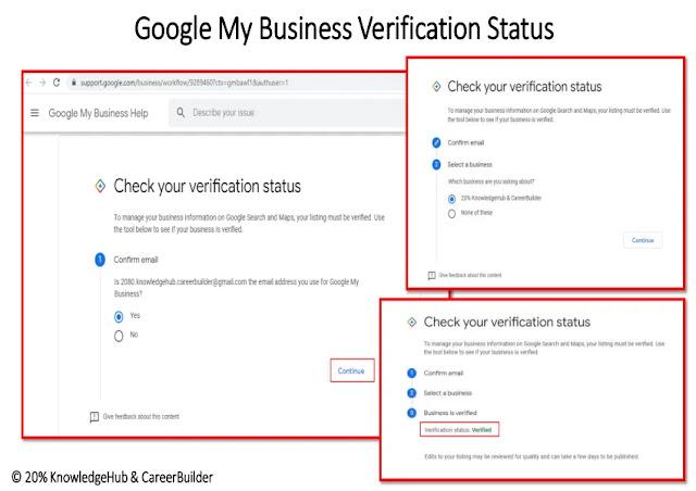 Google my business verification status