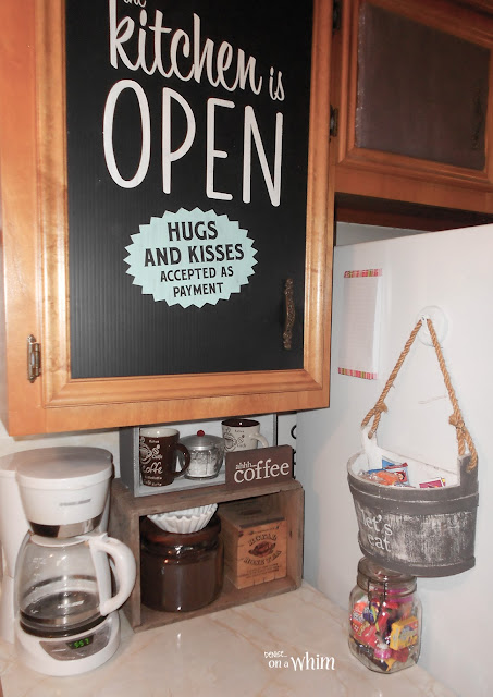 Coffee Station and Snack Area | Denise on a Whim