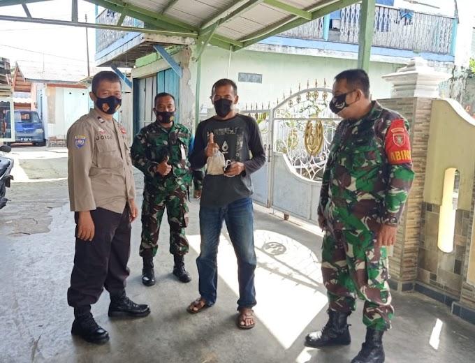 Pasien Covid-19 Meningkat, TNI - Polri Balikpapan Lakukan Pendisiplinan Prokes Secara Door to Door