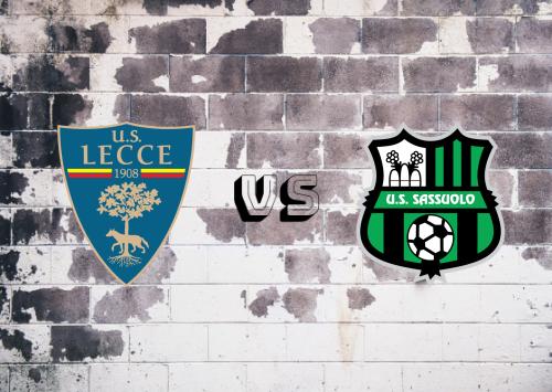 Lecce vs Sassuolo  Resumen