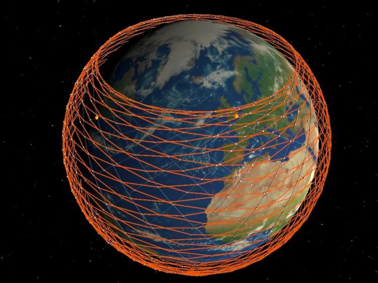 Спутниковая сеть Starlink на низкой околоземной орбите