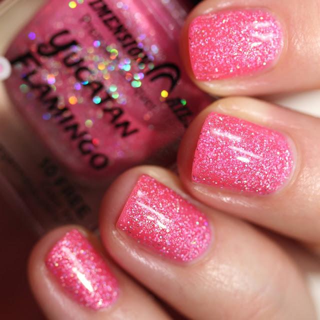 Dimension Nails Yucatan Flamingo swatch
