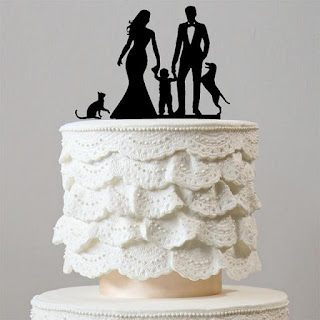 Acrylic Pet and Brides Wedding Cake Toppers
