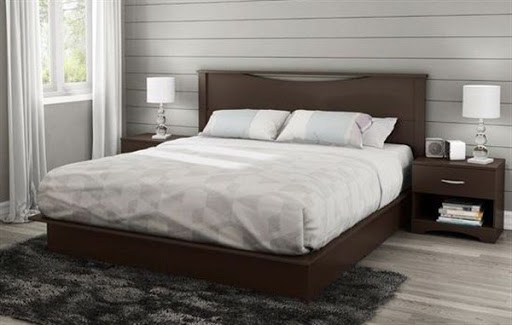 king platform bed with headboard