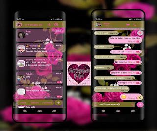 Rosas Theme For YOWhatsApp & Fouad WhatsApp By Ariana NM