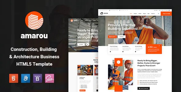 Best Construction and Building HTML5 Template