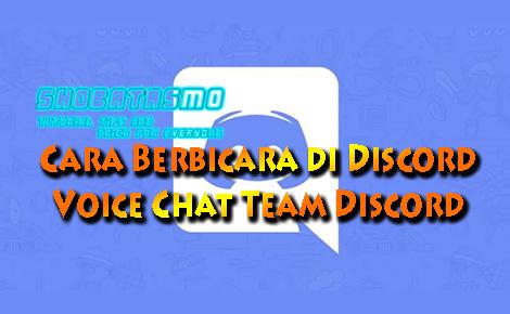 Cara Berbicara di Discord, Voice Chat Team Discord
