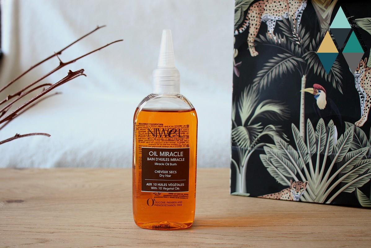 avis et test bain d'huiles miracle oil miracle cheveux secs niwel