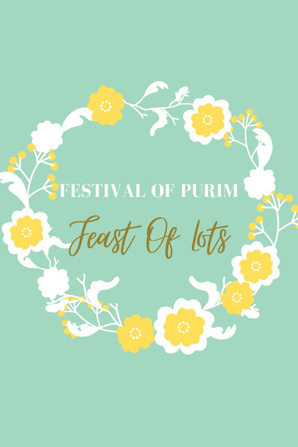 Purim Festival Greeting Card | Feast Of Lots | 10 Floral Banner Themed Greeting Card Picture Images