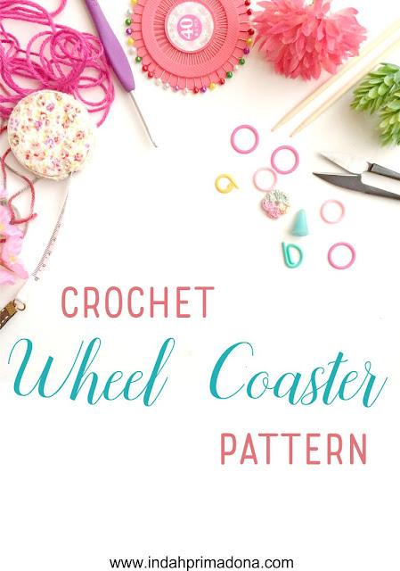 crochet coaster, crochet pattern, coaster pattern, crochet tutorial, www.indahprimadona.com