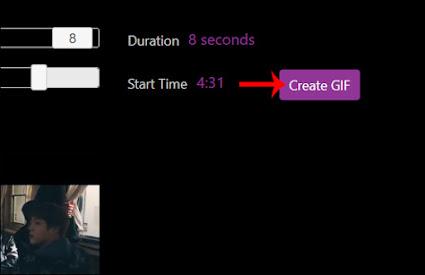 nhấn vào nút Create Gif để xuất file hình động