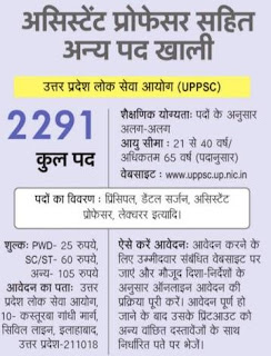 UPPSC Lecturer Recruitment 2018 2286 Lecturer, Dental Surgeon