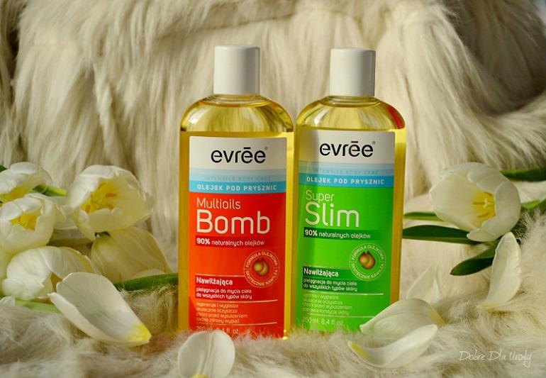 Multioils Bomb i Super Slim Olejki pod prysznic Evree