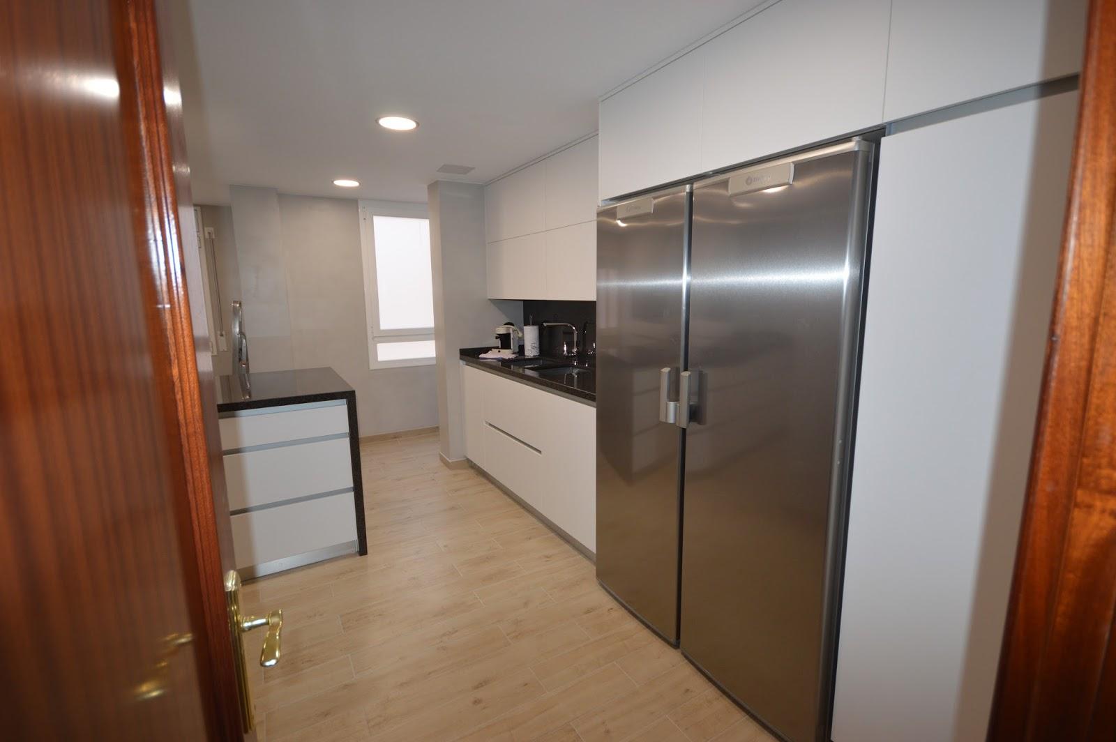 Reuscuina muebles de cocina sin tiradores con isla - Tiradores de muebles de cocina ...