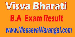 Visva Bharati B.A (Hons) Economics IV Sem 2016 Exam Result