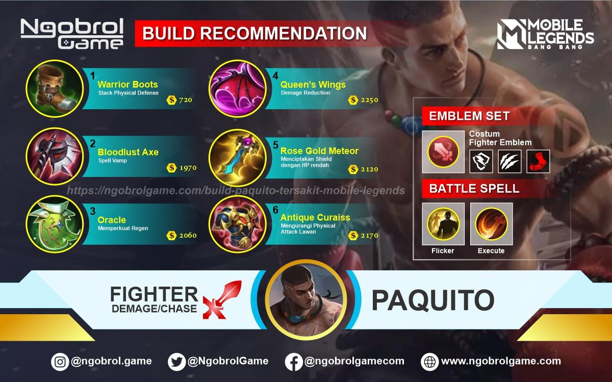 Build Paquito Top Global Tersakit Mobile Legends