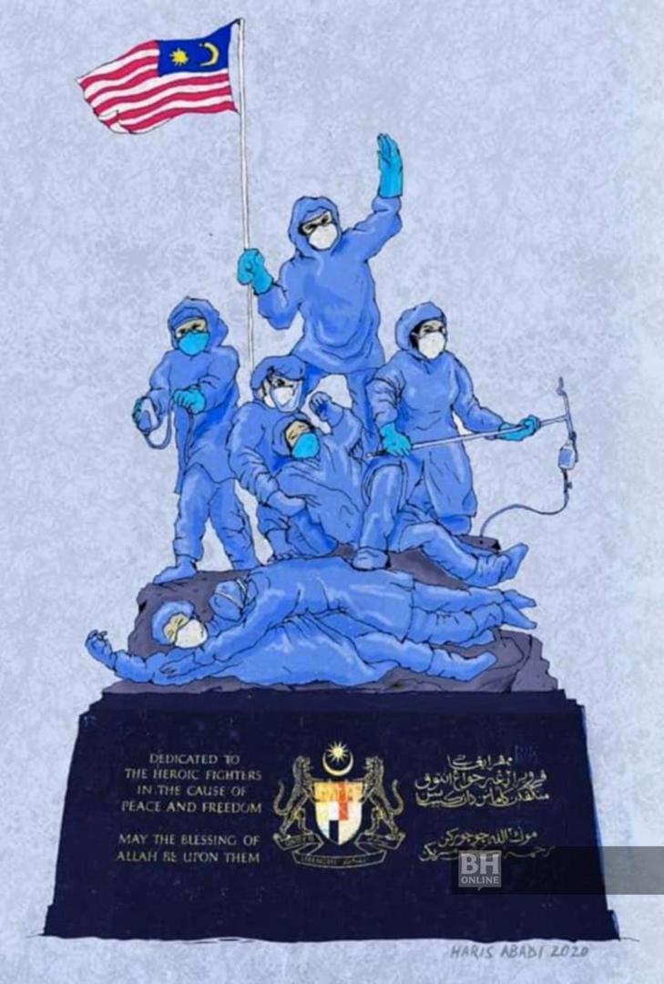 Karya Seni Untuk Barisan Frontliner 11 Gambar