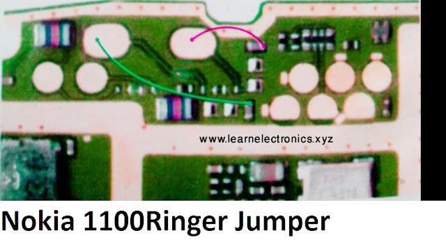 Nokia 1100 ringer jumper, nokia 1100 speaker ways Solution
