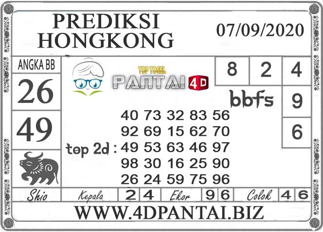 PREDIKSI TOGEL HONGKONG PANTAI4D 07 SEPTEMBER 2020