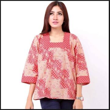 15 Kreasi Baju Batik Wanita Gemuk  Busana Kerja Model Terbaru