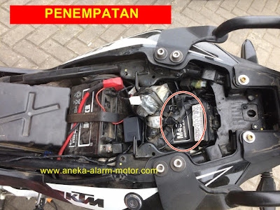 Cara pasang alarm motor KTM DUKE 200cc