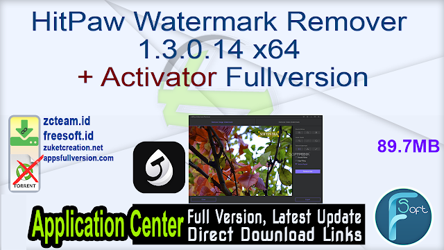 HitPaw Watermark Remover 1.3.0.14 x64 + Activator Fullversion