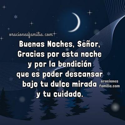 oraciones buenas noches imagen cristiana