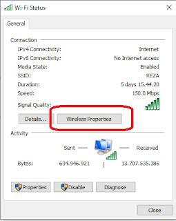 cara melihat password wifi di pc