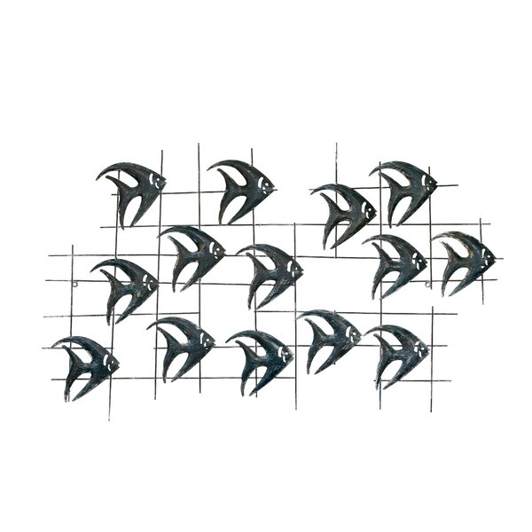 School of Fish Metal Wall Decor