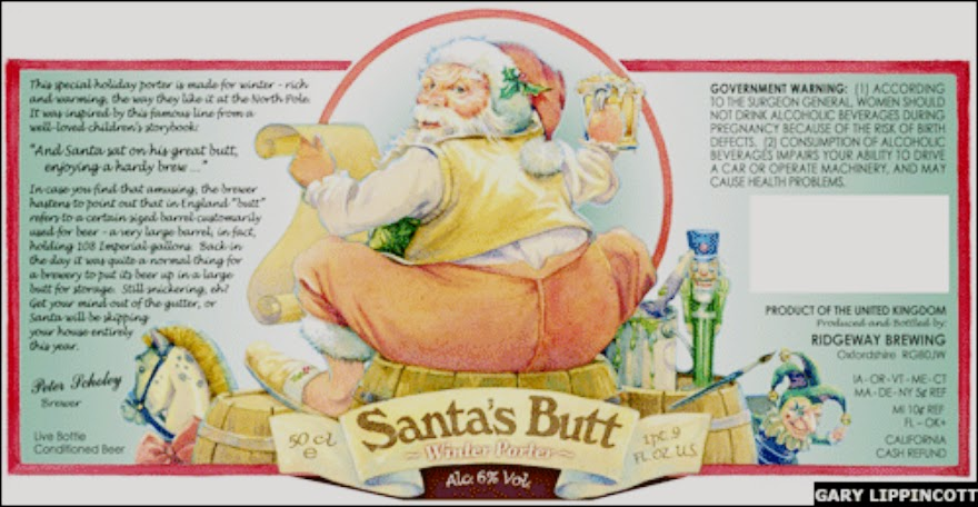 Santa's Butt - Picture of The Banned Beer Label