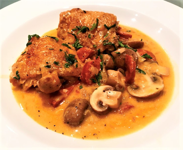 Chicken & Chorizo Braised in Cider