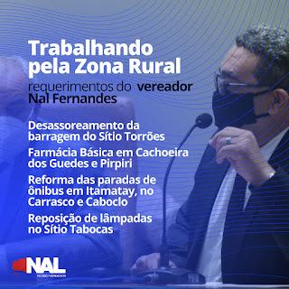 Nosso trabalho é incansável pela melhoria da qualidade de vida de todos os guarabirenses diz o vereador Nal do São José