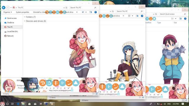Windows 10 Ver. 1703 Theme Yuru Camp by Enji Riz
