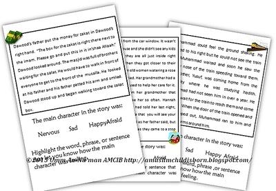 Iman's Home-School: Feelings Reading Comprehension Worksheets