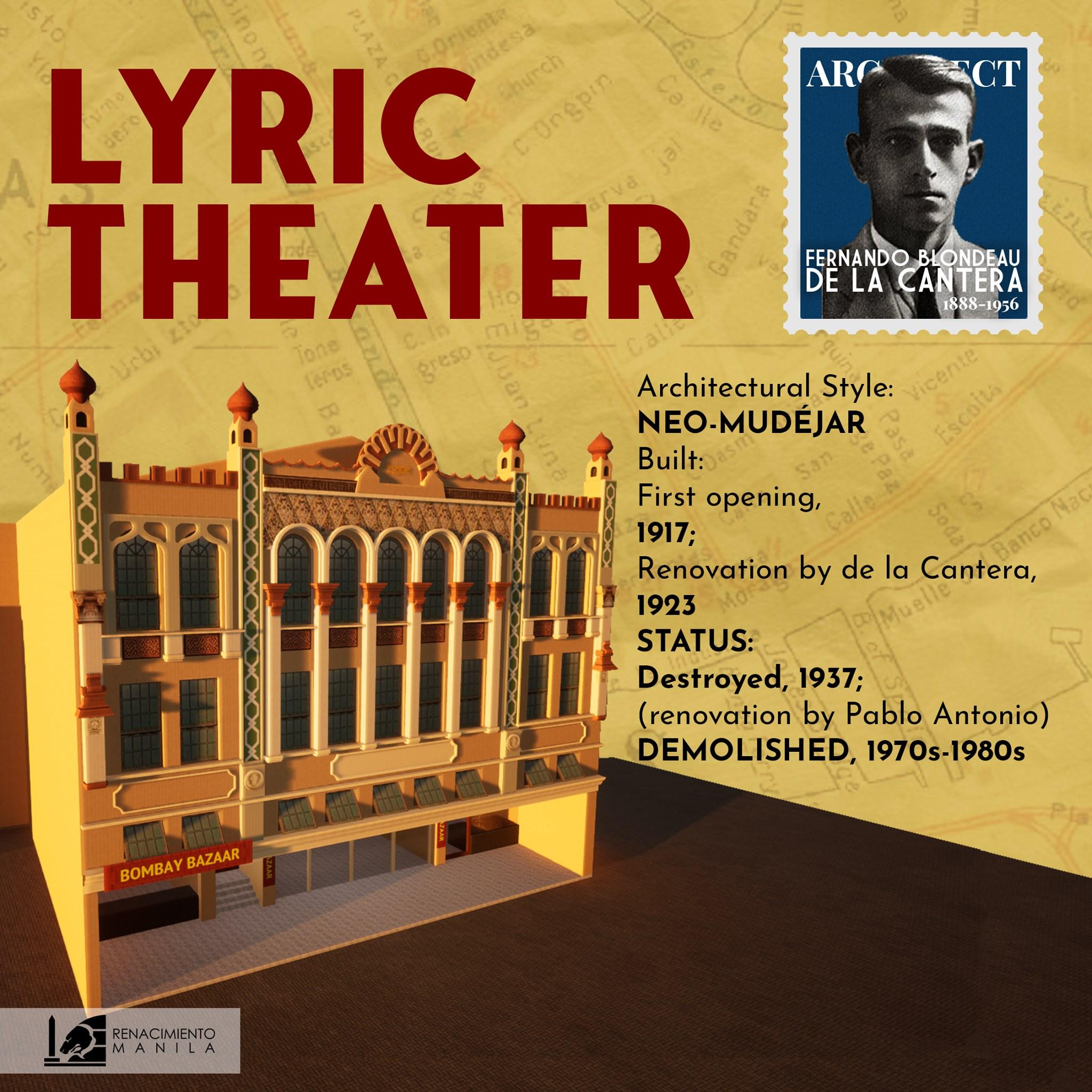 Lyric Theater - Fernando de la Cantera y Blondeau (1888 – 1956)