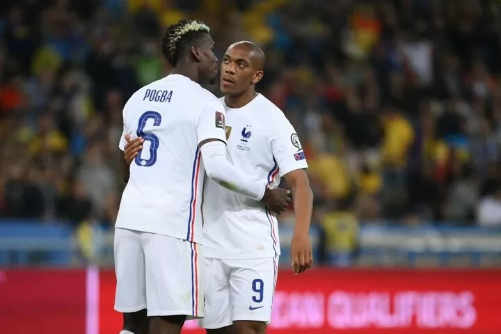Manchester United forward Martial cancels out the stunner as France struggle against Ukraine